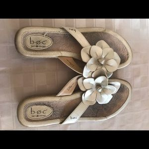 Born Concept BOC Gold Leather Flip Flop Sandal